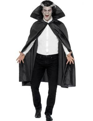 Men's Basic Black Halloween Vampire costume Cape Main Image