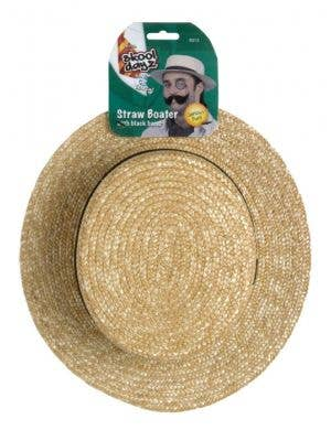 School Days Straw Boater Hat