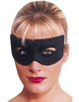 Basic Black Zorro Costume Mask Main Image