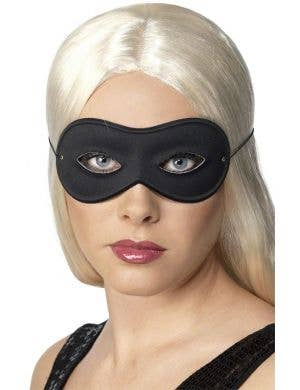 Simple Unisex Black Burglar Adult's Eye Mask