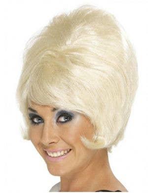 Groovy Women's 1960's Blonde Beehive Wig