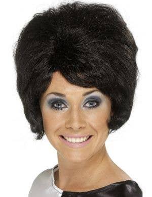 Groovy Women's 1960's Black Beehive Wig