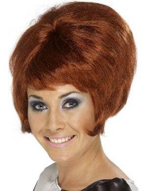 Groovy Women's 1960's Auburn Beehive Wig
