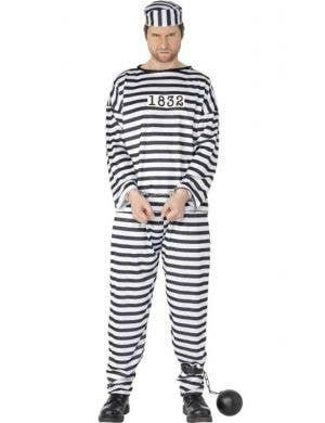 Convict Prisoner Men's Budget Costume