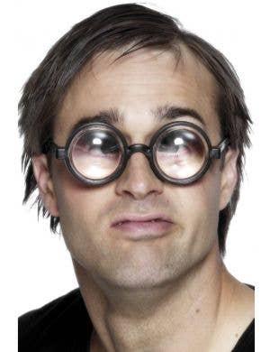 Geek Bottle Top Glasses in Black