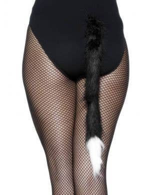 Plush Black And White Novelty Cat's Tail