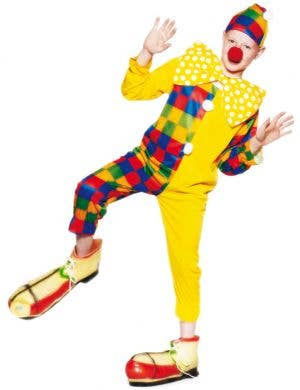 Boy's Cheap Circus Clown Carnival Costume Front