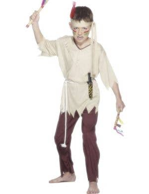 Boy's Native American Indian Cheap Book Week Costume Front