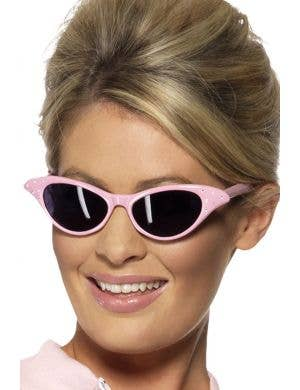 Women's Pink 1950's Costume Sunglasses Main Image