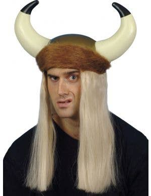Viking Helmet with Blonde Hair Costume Accessory