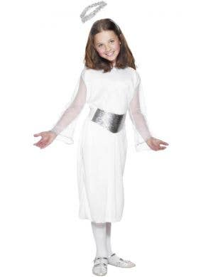 Basic White Christmas Angel Girls Costume