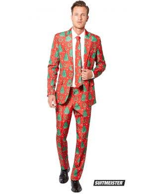 Suitmeister Men's Red Christmas Suit Costume