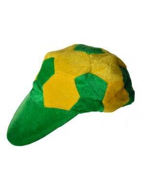 Australian Green and Gold Plush Soccer Ball Cap