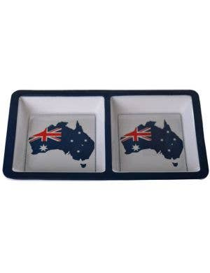 Aussie Flag and Anthem Two Section Food Platter