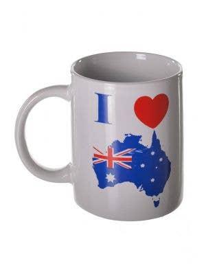 I Love Australia Aussie Flag Mug