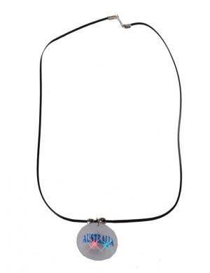 Flashing Novelty Australia Day Necklace