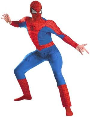 Muscle Chest Deluxe Adult Spiderman Costume