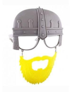 Viking Helmet Glasses with Moustache and Beard