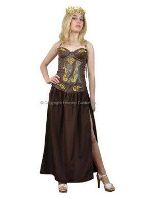 Roman Warrior Women's Fancy Dress Budget Costume