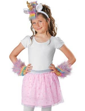 Rainbow Unicorn Horn and Wristlets Costume Kit