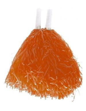 Orange Cheerleader Pom Poms Costume Accessory