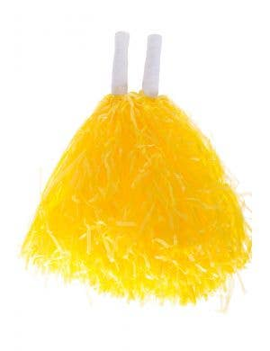 Yellow Cheerleader Pom Poms Costume Accessory