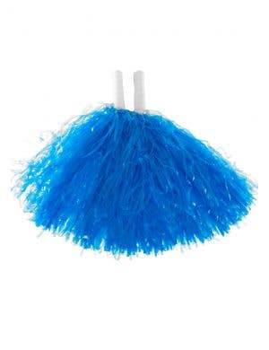 Blue Cheerleader Pom Poms Costume Accessory