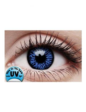 Drax UV Reactive Blue Coloured Contact Lenses