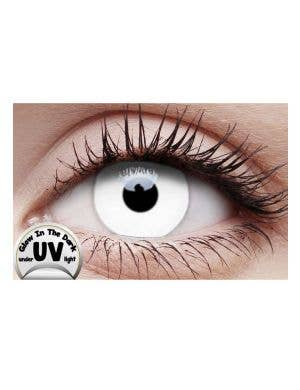 UV Reactive White Coloured Contact Lenses