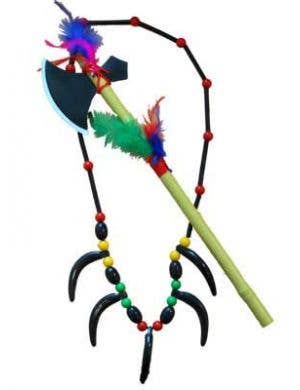 American Indian Necklace and Tomahawk Set