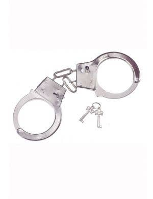 Silver Novelty Police Officer Handcuffs Costume Accessory