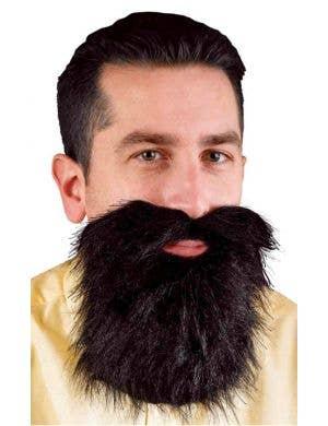 Bushy Black Beard and Moustache Costume Accessory