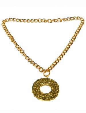 Roman Gold Medallion Costume Necklace