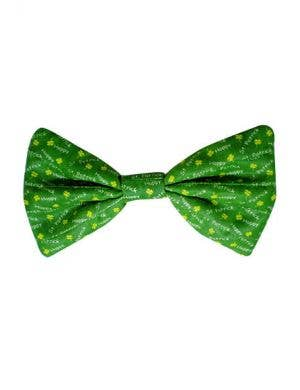 Shamrock Irish Green Satin Bow Costume Accessory