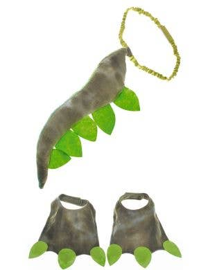 Dinosaur Kid's Tail and Feet Costume Accessory Set
