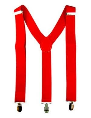 Christmas Red Suspender Costume Accessory