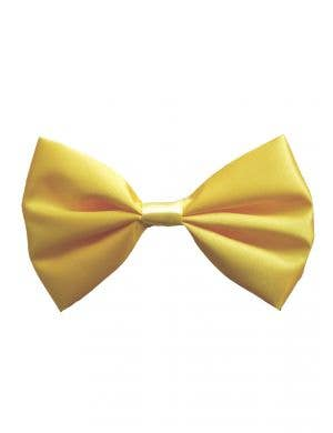 Yellow Satin Clown Costume Bow tie Accessory
