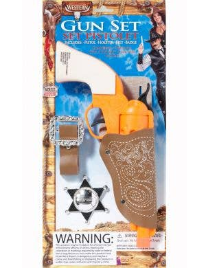 Wild West Cowboy Gun Badge And Holster Accessory Set