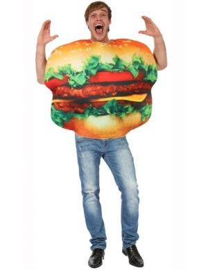 Adult's Hilarious Burger Fancy Dress Costume