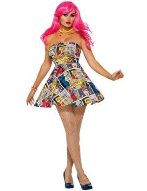 Pop Art Comic Women's Fancy Dress Costume
