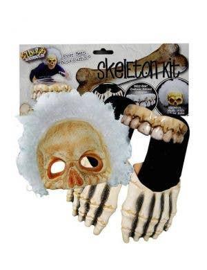 Billy Bob Skeleton Halloween Costume Kit with Mask, Hair, Feet And Teeth
