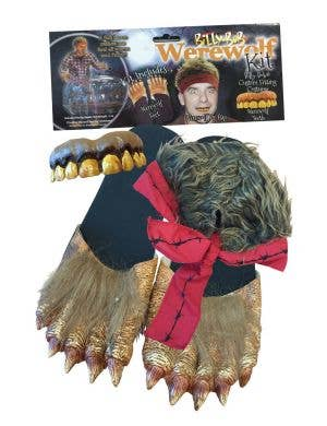 Billy Bob Werewolf Halloween Costume Kit with Hair, Feet And Teeth