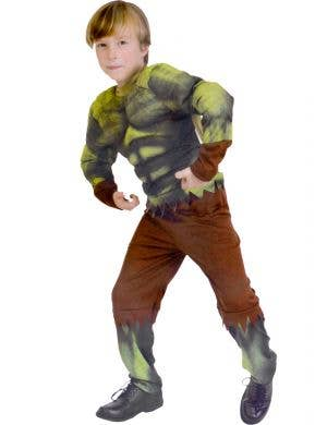 Hulking Green Monster Boy's Dress Up Costume