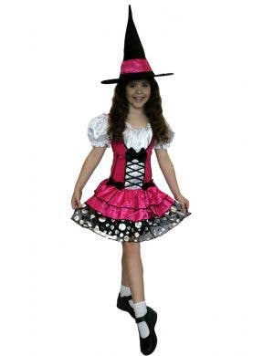 Pretty Pink Witch Girls Halloween Costume