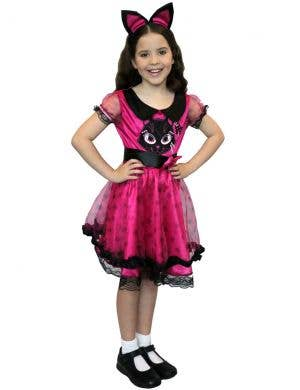 Little Kitty Girl's Pink Cat Fancy Dress Costume