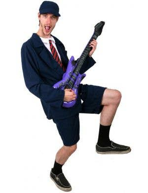 Angus Young Schoolboy Rocker Men's Fancy Dress Costume