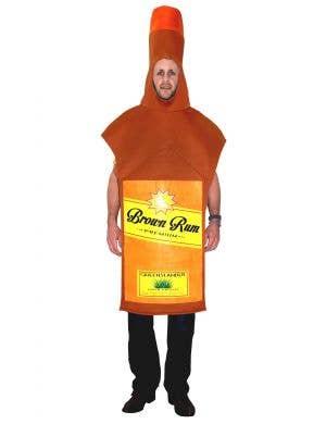 Brown Rum Bottle Novelty Adult's Fancy Dress Costume