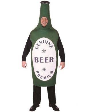 Funny Green Beer Bottle Costume for Men