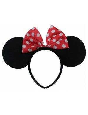 Minnie Mouse Ears with Bow Headband Costume Accessory