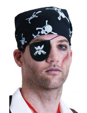 Vinyl Black Pirate Eye Patch Costume Accessory